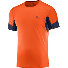 Salomon Agile SS Tee Men Scarlet Ibis/Night Sky